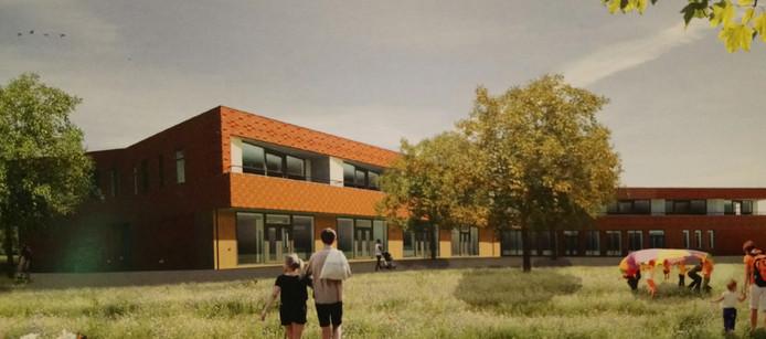 De receptie wordt gehouden in het nieuwe multifuctioneel centrum De Stadsweide, hier op een artist's impression.