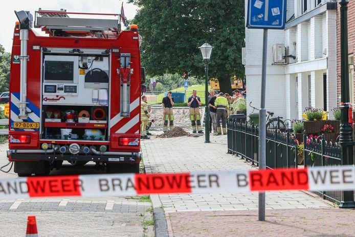 Bij een woning op Urk ontdekte de brandweer een gaslek.
