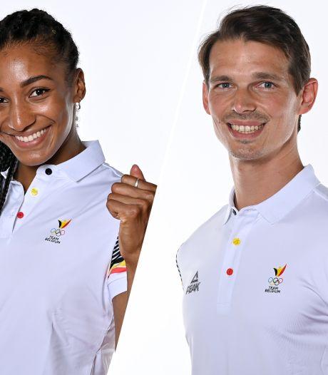 Nafi Thiam et Felix Denayer, symboles du sport belge et porte-drapeaux