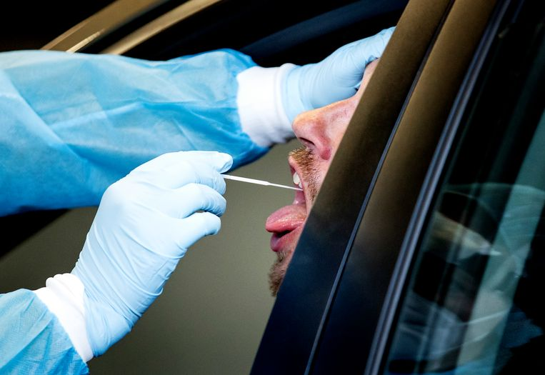 Afgelopen week testten 987 mensen positief voor het coronavirus. Beeld Hollandse Hoogte /  ANP