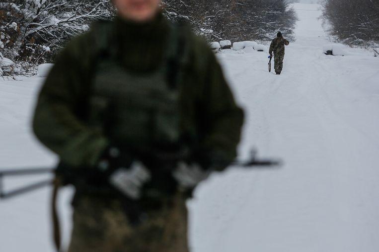Illustratiefoto: Oekraïense soldaat in de regio van de stad Donetsk.