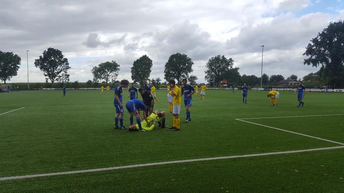 Beeld uit de wedstrijd GWVV-Etten. Foto: Daan van Leeuwen