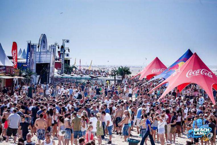 Een beeld van het festival Beachland in Blankenberge.
