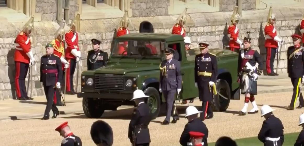 De Land Rover voor prins Philip.