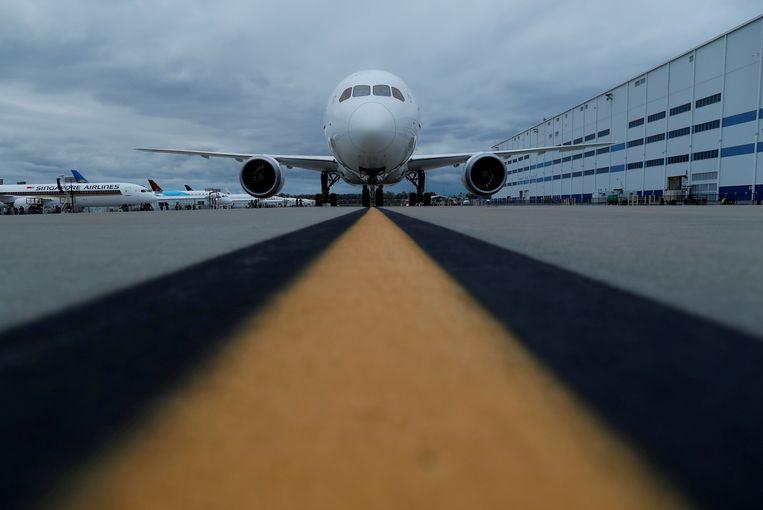 Een Boeing-toestel staat geparkeerd bij de fabriek in South-Carolina. Beeld REUTERS