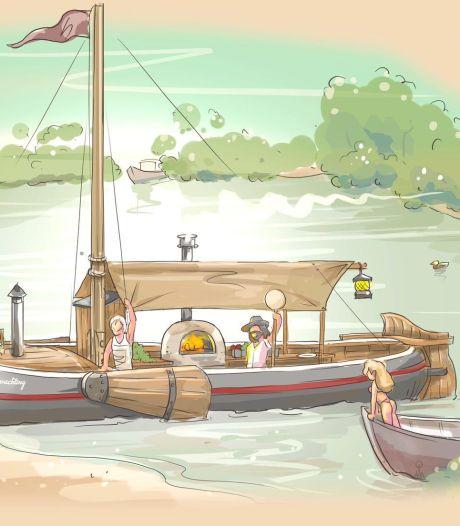 Pizza scoren op het water: bakboot vaart naar je toe deze zomer