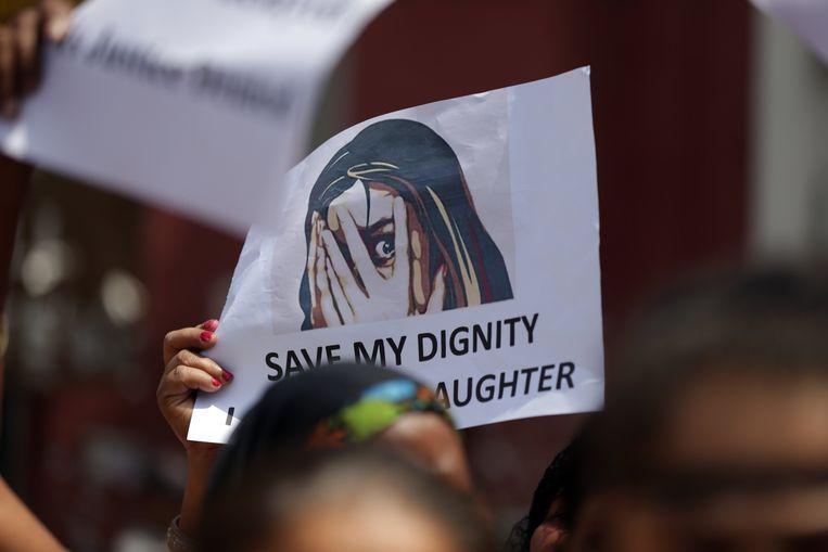 Protestactie in Amritsar op dinsdag.
