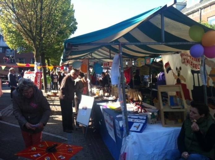 De zevende vrijwilligersmarkt, zondag in Elst. Foto: DG