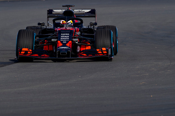 Max Verstappen in de Red Bull