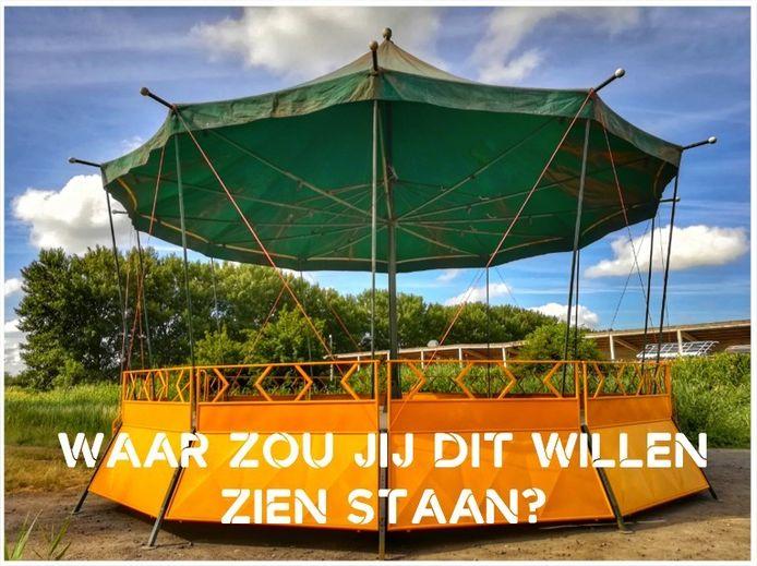 ARCHIEFBEELD: De gemeente Wetteren was op zoek naar een thuis voor de oude kiosk.