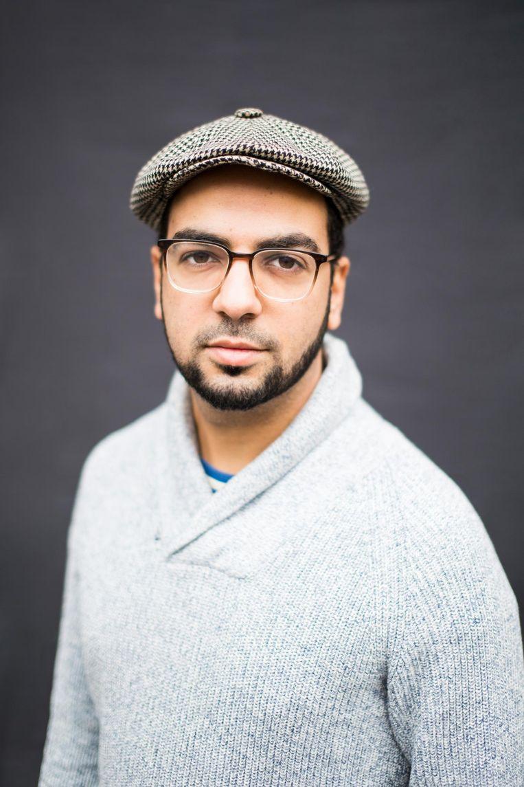 Moataz Rageb (29), Student sociologie UvA, voorzitter Amsterdam United Beeld Eva Plevier