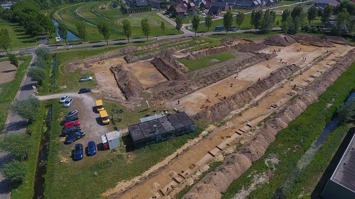 Een eerdere opgraving van Leidse studenten in 2017 op het voormalige gildeterrein langs de Macharenseweg in Oss.
