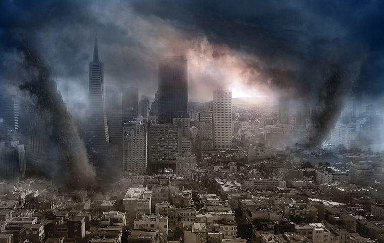 Beeld uit 'The Day after Tomorrow', een Amerikaanse sf-rampenfilm uit 2004. Beeld rv