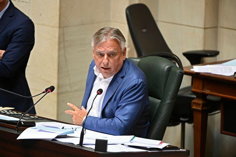 Patrick Dewael (Open Vld) is er geen voorstander van om de kwestie pas in het kader van de regeringsformatie te bespreken. Beeld Photo News