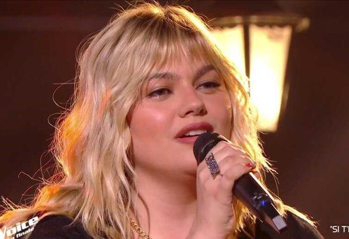 Louane lors de la finale de The Voice France