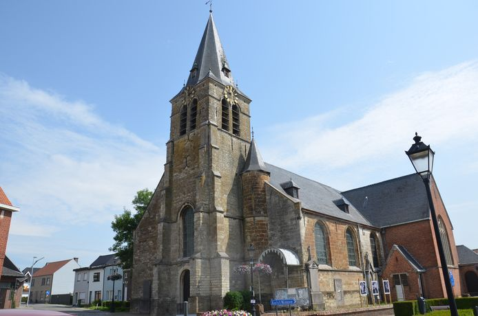 De kerk van Iddergem.