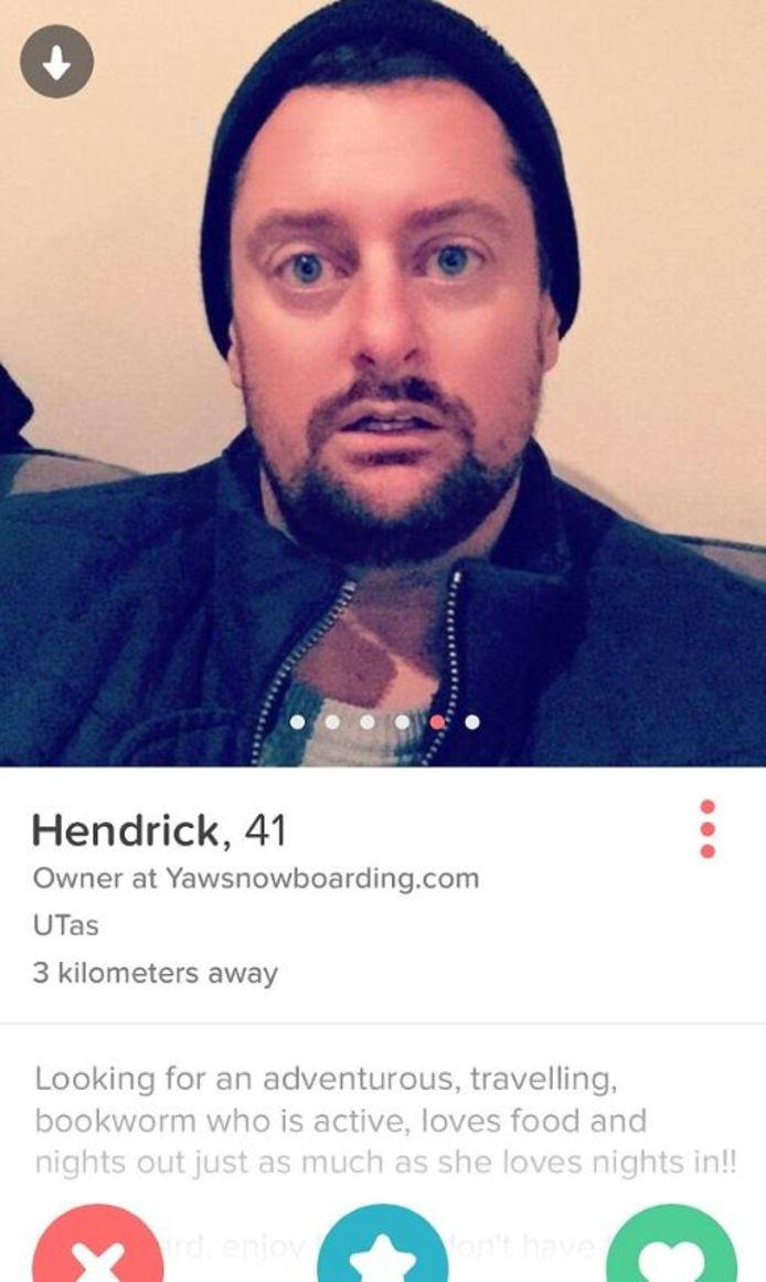 Glenn Hartland onder een andere naam op Tinder
