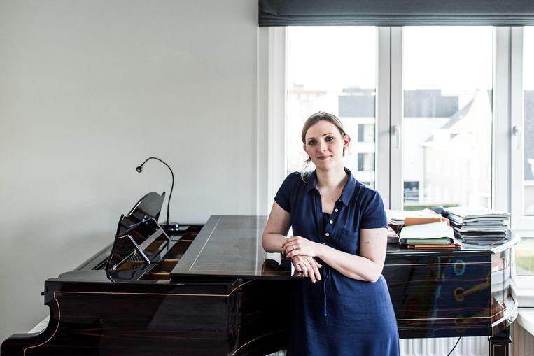 Charlotte Wajnberg, Belgische sopraan, stoot door naar de finale in de Koningin Elisabethwedstrijd. Beeld Tine Schoemaker