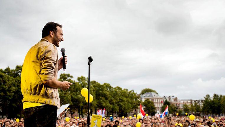 Nasdrin Dchar, eerder dit jaar, tijdens de Ieder1-manifestatie op het Museumplein. Beeld anp