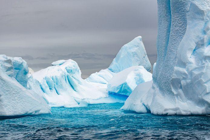 IJsbergen bij Antarctica.