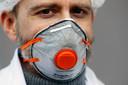 Een FFP2-mondmasker. Foto ter illustratie