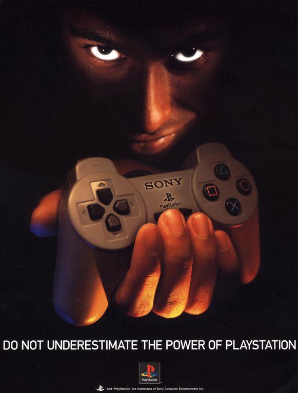 Advertentie uit de jaren negentig voor de Playstation.