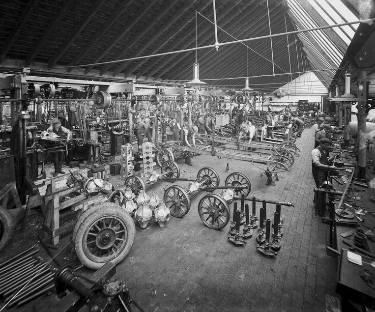 De automobielindustrie was ooit het voorbeeld van een moderne organisatie van werk. Beeld SSPL via Getty Images