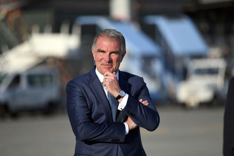 Carsten Spohr, de topman van moederbedrijf Lufthansa. Beeld REUTERS