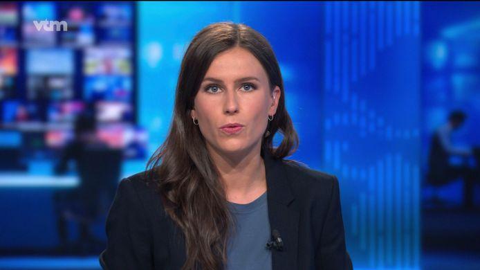 Birgit Herteleer eerste nieuwsuitzending als anker