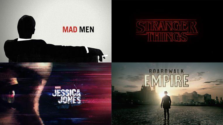 Bij Imaginary Forces, dat de generieken van onder meer 'Mad Men' en 'Stranger Things' maakte, werkt men gemiddeld twaalf tot zestien weken aan een generiek. Beeld Imaginary Forces