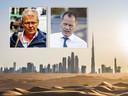 Advocaten Nico Meijering (l) en Leon van Kleef (r)  werden in juni 2019 door de politie tot in Dubai gevolgd, waar ze een cliënt bezochten. De politie had een tip gekregen dat Meijering in Dubai een ontmoeting zou hebben met Ridouan Taghi. Die informatie bleek onjuist.