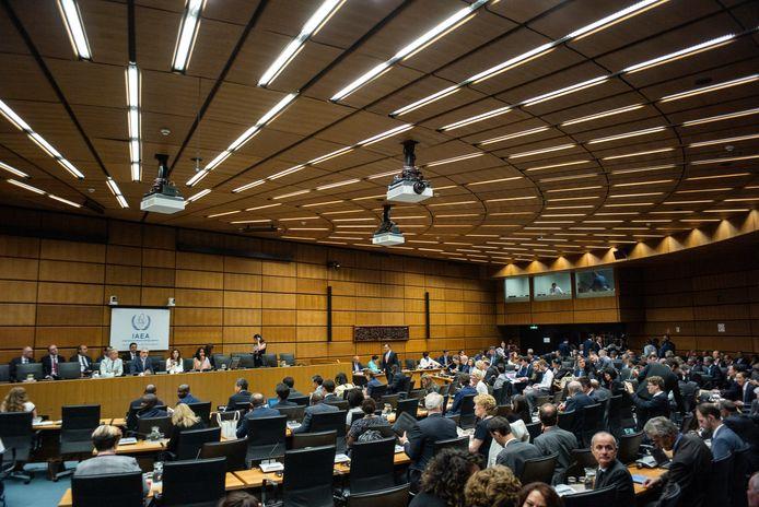 De zitting van het Internationaal Atoomenergieagentschap in Wenen vandaag.