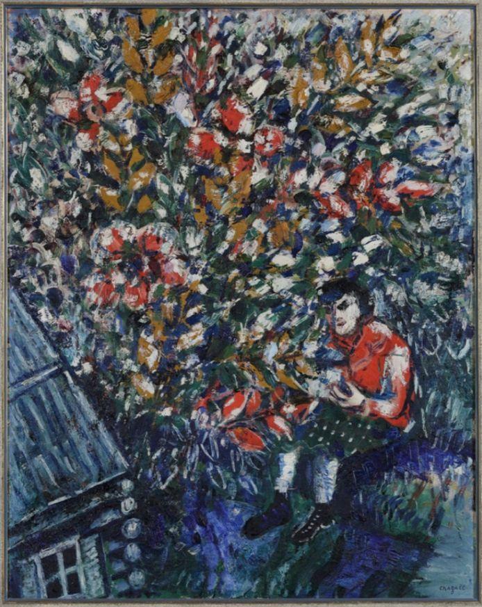 'Ida in de boom' olieverf op doek van Marc Chagall