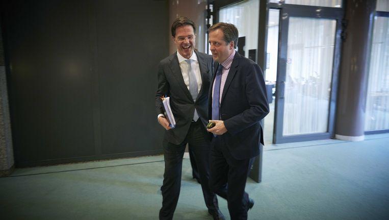 Premier Mark Rutte en D66-leider Alexander Pechtold. Beeld ANP