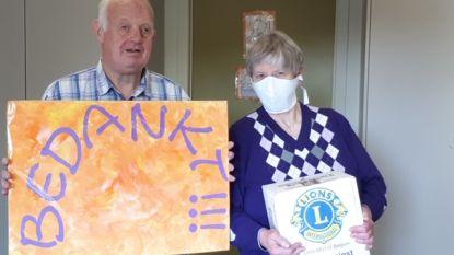 """Lionsclub schenkt mondmaskers aan Willekom en Home Marjorie: """"Heel erg welkom"""""""