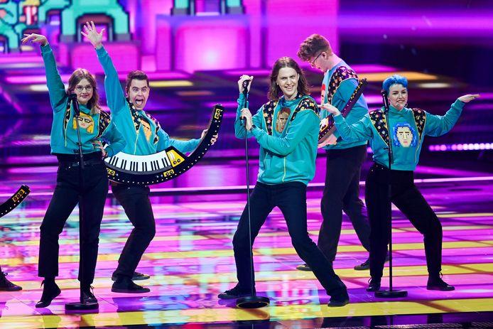 IJsland tijdens de repetities voor het Eurovisie Songfestival.