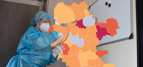 KAART | Corona wint weinig terrein in grote steden Oost-Nederland, Zwartewaterland blijft worstelen