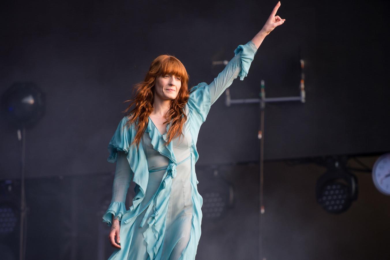Florence + The Machine op het BST Festival in Hyde Park in Londen. De editie deze zomer gaat niet door.