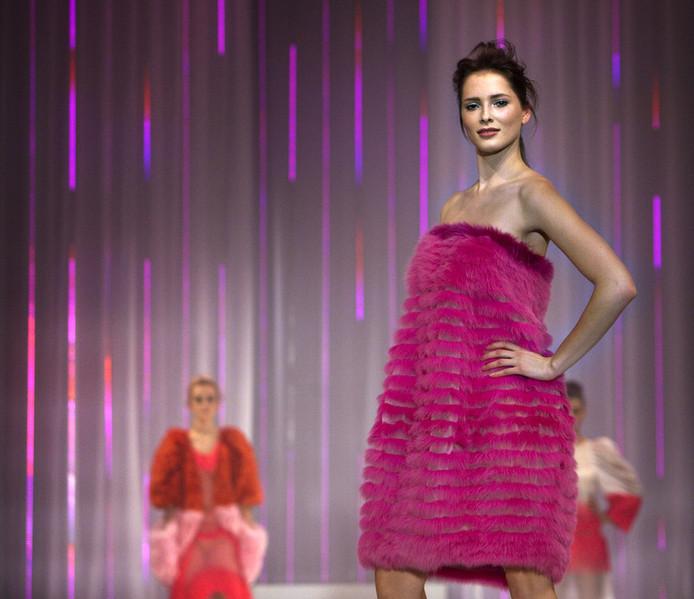 Rosalinde in november 2009 bij de finale van Benelux Next Top Model. © ANP