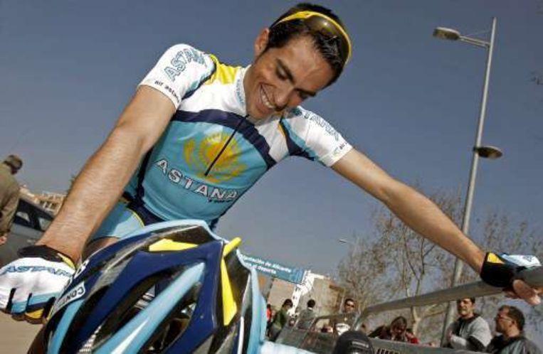 Alberto Contador staat zesde in de stand. Beeld UNKNOWN