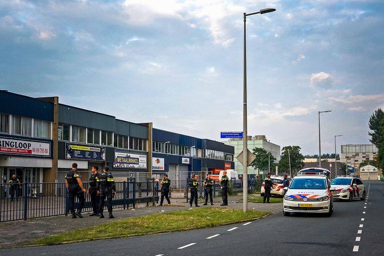 Bij de schietpartij aan de Stekkenbergweg zondagochtend raakte oud-profvoetballer Jergé Hoefdraad ernstig gewond.  Beeld Hollandse Hoogte /  ANP
