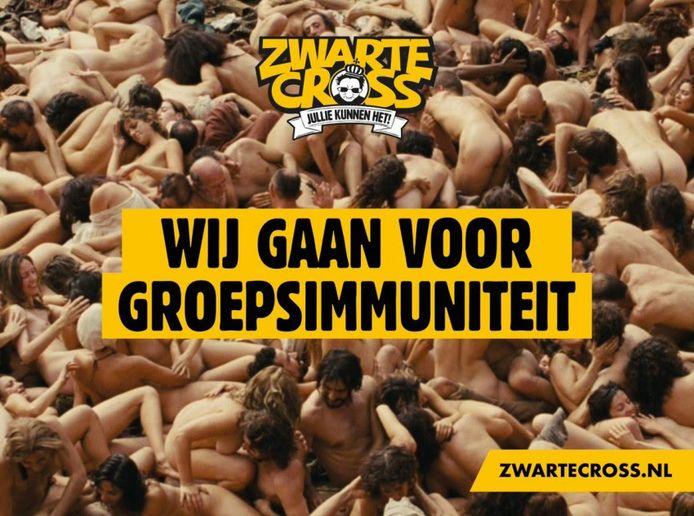 Een van de nieuwe billboards van de Zwarte Cross