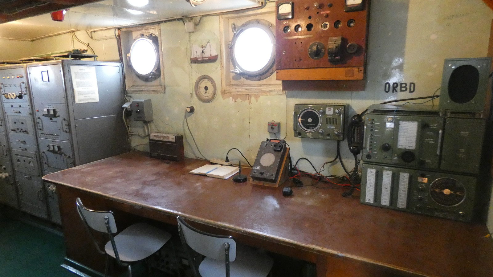 De radiokamer van de West-Hinder III
