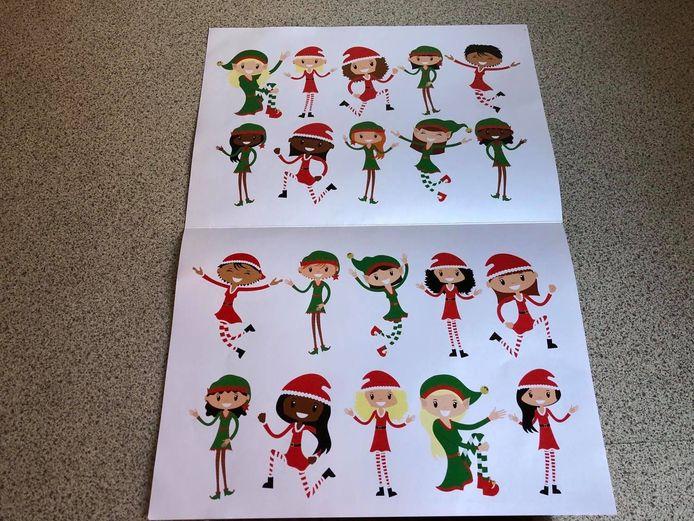 Op het formulier staan alle elfjes van de kerstman. Het zijn er een twintigtal. Opperelfje Billie ontbreekt.
