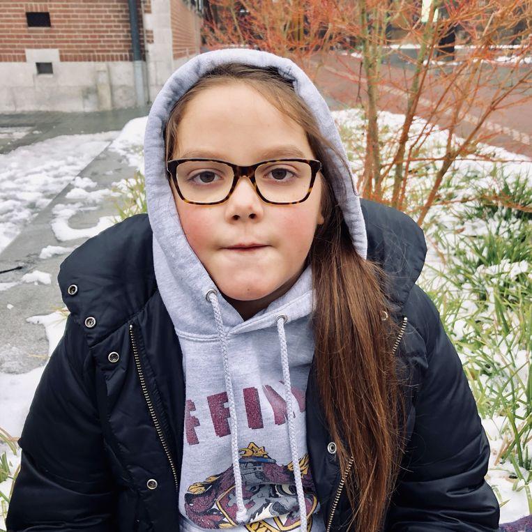 De tienjarige Lilly Platt. Beeld verslaggeverscolumn Margriet Oostveen