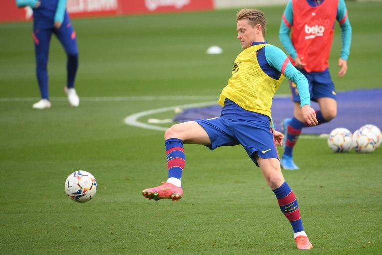 Frenkie de Jong kan zijn eerste titel met Barcelona nog veroveren. Beeld AFP