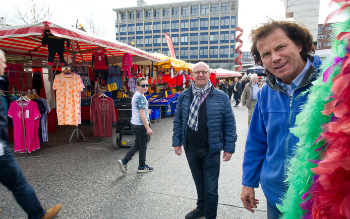 Marktkoopman Ben Geelink.