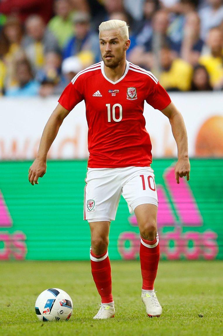'Gunner' Aaron Ramsey is een belangrijke kracht op het middenveld van Wales. Beeld Photo News