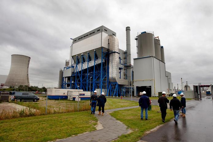 Een biomassacentrale in Moerdijk.