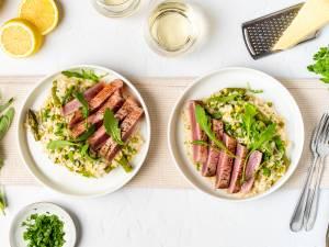 Wat Eten We Vandaag: Citroenrisotto met tonijnsteak
